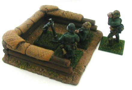 28MM WWII Battlefield Terrain Mortar Pit