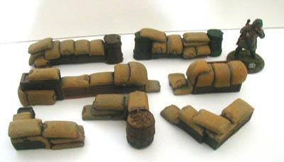 28MM WWII Battlefield Terrain Sand Bag Set