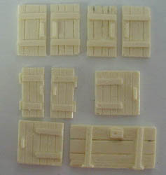 28mm WWII Village Cottage Shutters & Door