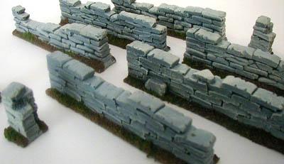 28mm WWII Field Stone Wall