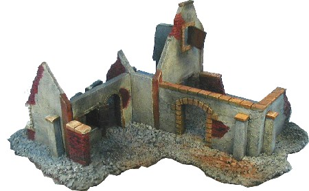 Farm House WWII war gaming terrain ruined buildings